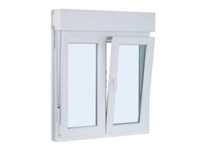 ventanas ventanas de pvc ventanas de aluminioventana de pvc dos hojas practicable y oscilobatiente con persiana 1300 mm x 1300 mm