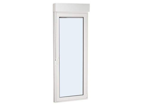 puerta de pvc una hoja practicable y oscilobatiente con persiana 1000 mm x 2000 mm