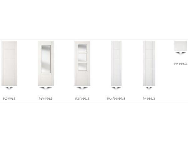 puerta lacada ciega en blanco
